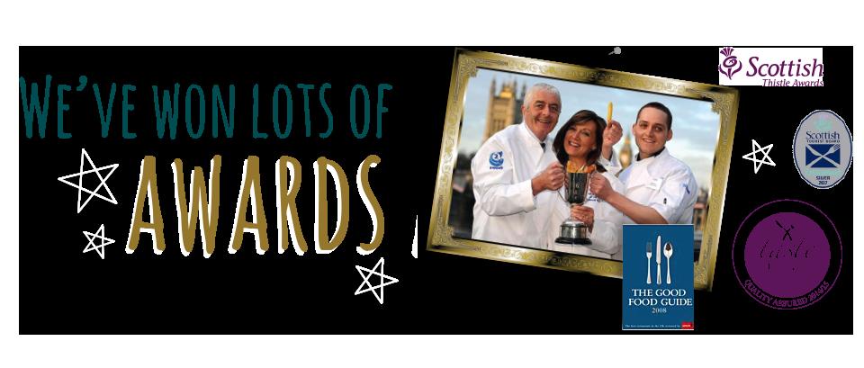 We've won lots of awards