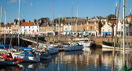 Anstruther Fish Bar and Restaurant overlooks one of the East Neuk's most beautiful harbours.