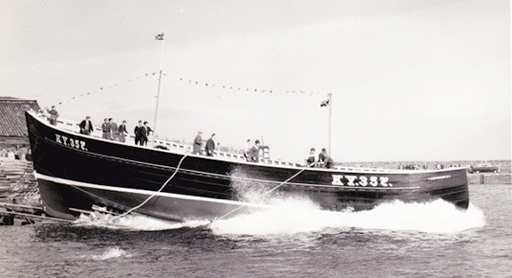 The Argonaut is launched at St Monans.