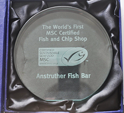 Certified sustainable seafood by the Marine Stewardship Council.